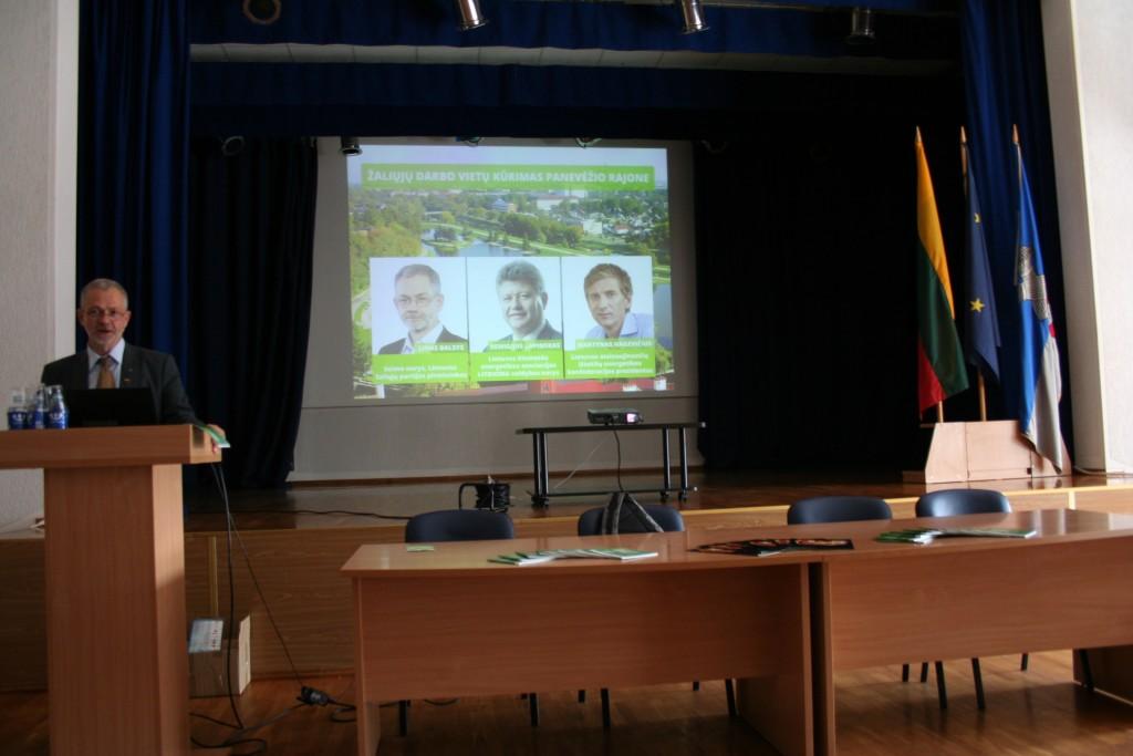 Linas Balsys apie žaliųjų darbo vietų kūrimą Panevėžio rajone